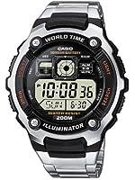 Casio - AE-2000WD-1AVEF - Standard - Montre Homme - Quart Digitale - Bracelet en Acier Inoxydable