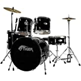 Tiger Full Size Beginner Drum Kit - Blackby Tiger Music