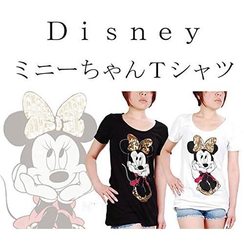 Disney  ミニーちゃんTシャツ  <  ミニーマウス ミッキーマウス  ミニーーTシャツ  ミニー  MINNIE Tシャツ minnie  T ミッキー mickey MICKEY MOUSE ディズニー ディズニーランド > (ブラック)
