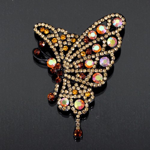 Butterfly Rhinestone Brooch Fb-4802-16