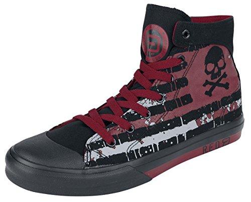 R.E.D. by EMP Skull Flag Sneaker Scarpe sportive nero/rosso EU47