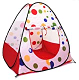 Jumbo Polka Dot Teepee Play Ball Tent House