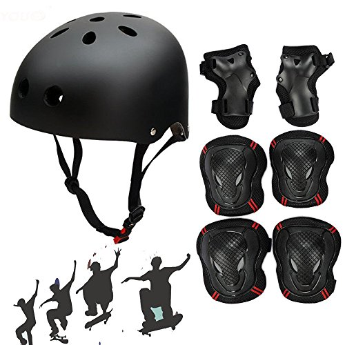 symbollife-skateboard-skate-helmet-with-protective-gear-knee-pads-elbow-pads-wrist-guards-for-kids-b