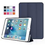 iPad Mini 4 ケース - ATiC Apple iPad Mini 4 (2015) 7.9 インチ iOS タブレット専用開閉式三つ折薄型スタンドケース。INDIGO (オートスリープ機能付き) (iPad Mini 3,2,1に適応ない)