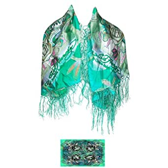 ed hardy kills square silk fringe scarf at