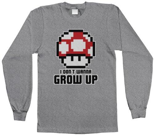 Threadrock Big Boys' I Don'T Wanna Grow Up Youth Long Sleeve T-Shirt Xs Sport Gray