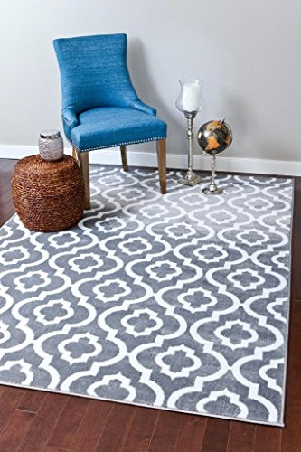 3028-gray-moroccan-trellis-20x34-area-rug-carpet-large-new