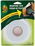 Duck Brand Removable Foam Mounting Tape, 0.75-Inch x 10 Feet, Single Roll, White (1098147)