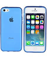 TeckNet® Apple iPhone 5C Slim Soft Gel Cover Case for Apple New iPhone 5 C With Screen Protectors-Blue