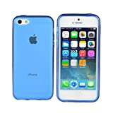 TeckNet New Apple iPhone 5C Slim Soft Gel Cover Case for Apple New iPhone 5 C With Apple iPhone 5C Screen Protectors - Blue