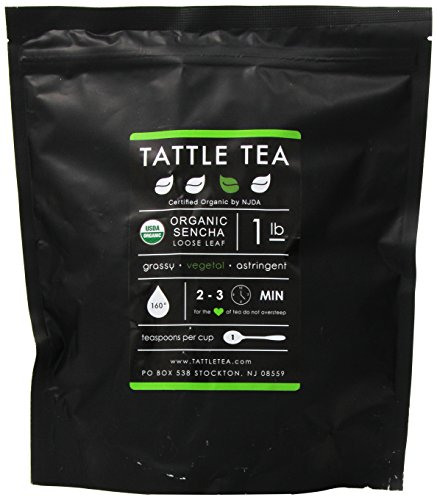Tattle Tea Organic Sencha Green Tea, 1 Pound