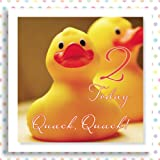 2nd BIRTHDAY Quack Quack! .. 2 TODAY A cute card for a birthday boy or girl.