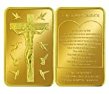 Jesus Christ Ten Commandments 1 Troy Ounce Gold Plated Bar