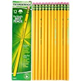 Dixon Ticonderoga Wood-Cased #3 H Pencils, Box of 12, Yellow (13883)