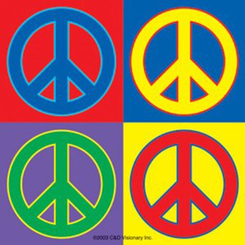 Licenses Products Generic Four Peace Sticker - 1