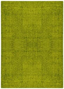 Bella Collection BEL1150 Solid One Color 3x5 Green Design Area Rug