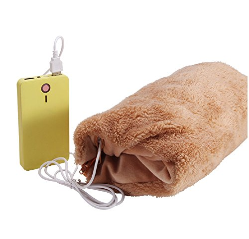 7Buy USB Heated Pillow Cushion for Car Seat Hand Tummy Warmer Winter Outdoor Sport,Power Bank Not Included (light coffee) (Electric Blanket Power Cord compare prices)