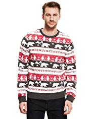 Crew Neck Polar Bear Jumper