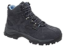 Ad Tec Womens Suede Black Leather Hiker Boots - 6 1/2