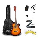 Bailando 40 Inch Cutaway Acoustic Guitar, Sunburst