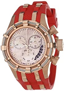 Invicta Women's 6952 Reserve Collection Bolt Chronograph Red Polyurethane Watch