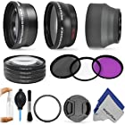 Lens Accessory Kit for CANON PowerShot SX50 HS - Includes: 0.43x Wide Angle and 2.2x Telephoto Lenses + Adapter Ring + Vivitar Filter Kit (UV