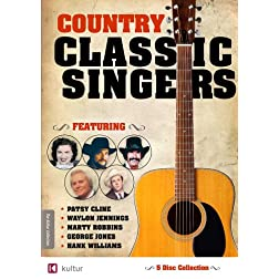 Country Classic Singers: Marty Robbins, George Jones, Hank Williams, Patsy Cline, Waylon Jennings 5 DVD Set