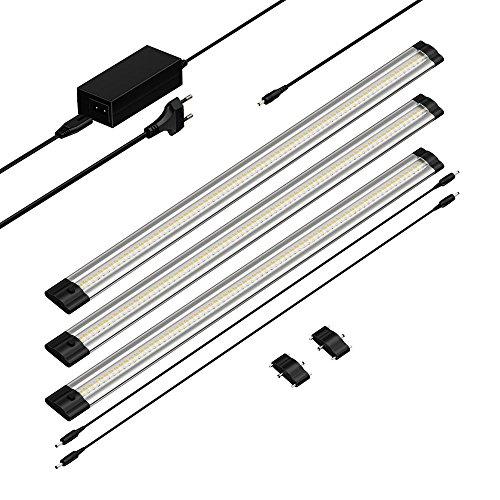 parlat-led-lampada-da-sottopiano-sirius-sottile-50-cm-400lm-bianca-calda-kit-di-3-lampade