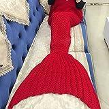 Kwock Sirena Manta Modelo que hace punto Manta Manta sirena de cola para adultos y adolescentes de 180*90cm