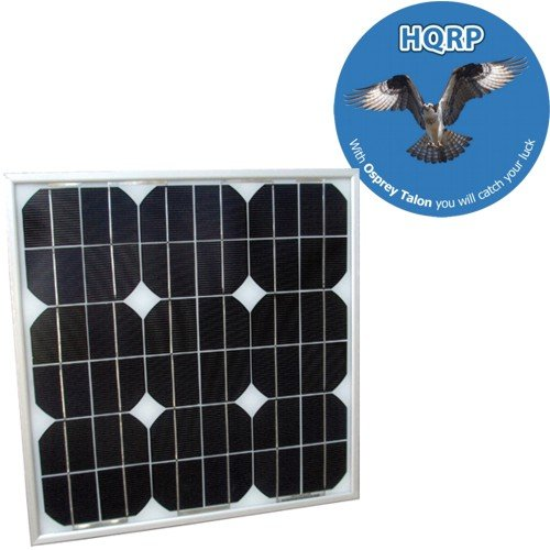 HQRP 20W Mono-crystalline Solar Panel 20 Watt 12 Volt in Anodized Aluminum Frame Square shape plus HQRP Coaster.