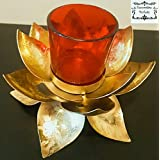 Decorative Buckets: LOTUS TEA LIGHT HOLDER With Glass Tea Light Holder: DIWALI GIFTS