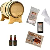Outlaw Kit From American Oak Barrel - Make Your Own Tequila (1 Liter, Natural Oak With Black Hoops)