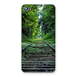 Cute Beautiful Track Green Back Case Cover for Micromax Canvas Fire 4 A107
