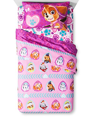 Pink Paw Patrol Bed Sheets
