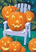 Jack a Plenty Halloween Garden Flag Pumpkin Fall Decorative Banner 12.5
