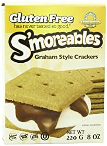 Kinnikinnick, Smoreable Graham Style Crackers, Wheat Free, Gluten Free, 8-Ounce (Pack of 6)