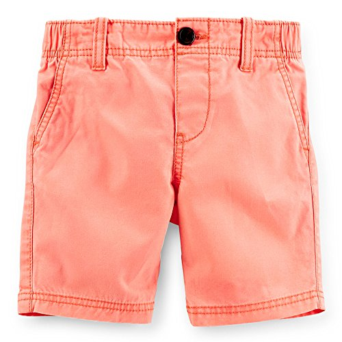Carter's Little Boys' Woven Canvas Shorts (Toddler) (2T, Orange) Bermuda Canvas Shorts