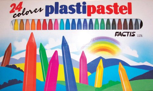General Pencil Factis Hex Shaped Plastipastel Crayons Set, 24/Set