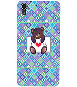 PrintDhaba Love D-4310 Back Case Cover for HTC DESIRE 728 (Multi-Coloured)