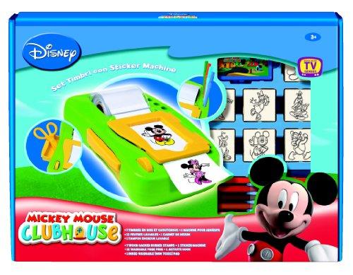 Imagen principal de Multiprint Mickey Mouse Club House - Juego de sellos de goma, máquina para hacer pegatinas y accesorios