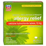 Rite Aid Cetirizine Hydrochloride 10 Mg, Allergy Relief Tablets 60 Ct.