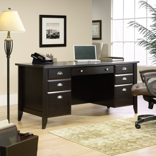 Sauder Shoal Creek Executive Desk in Jamocha