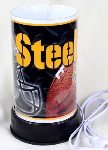 """Electric 7.25"""" Aluminium Aroma Diffuser,Steelers Logo Pattern,Finger Touch Dimmer Oil Burner With Free 1 Oz Random Oil"""