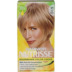 Amazoncom  Garnier Nutrisse Haircolor 91 Light Ash Blonde Ginger Ale  Che