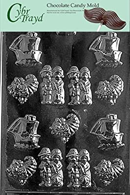 Cybrtrayd T008 Bite Size Thanksgiving Assortment Life of the Party Chocolate Candy Mold with Exclusive Cybrtrayd Copyrighted Chocolate Molding Instructions