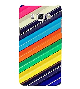 PrintVisa Colorful Stripes Pattern 3D Hard Polycarbonate Designer Back Case Cover for Samsung Galaxy J7 2016 Edition