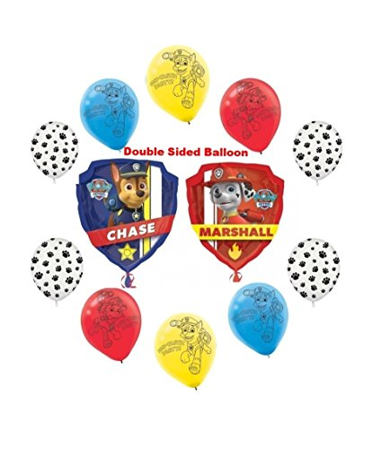 Paw Patrol Chase & Marshall Birthday Party Balloon Bouquet