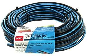 Toro 53640 Blue Stripe Drip 1/4-Inch Tubing Sprinkler with Emitters, 100-Feet