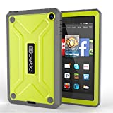 Fire HD 6 Case - Poetic Amazon Fire HD 6 Case [REVOLUTION Series] - Rugged Hybrid Case with Built-in Screen Protector for Amazon Kindle Fire HD 6 (2014) Citron (3-Year Manufacturer Warranty from Poetic)