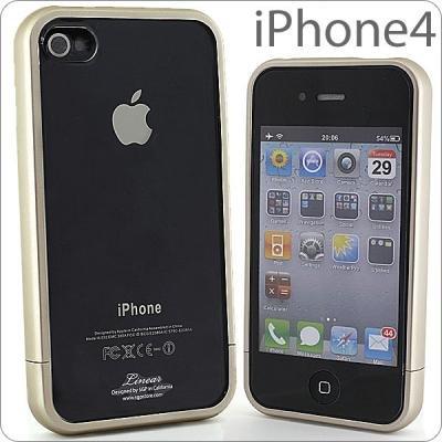 [Softbank iPhone 4専用] SGPケース リニア クリスタルシリーズ(シャンパン・ゴールド)